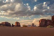 Monument Valley, late afternoon, Arizona, Utah