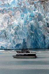 Tour boat near the Seward Glacier, Tracy Arm Fjord, Tracy Arm-Fords Terror Wilderness, Alaska Inside Passage, Alaska, United States of America