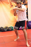 Randy Couture warms up ahead of a training session for Randy Couture ahead of UFC 105 at Straight Blast Gym in Manchester, England on November 11, 2009.