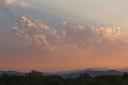 Sunset over the Rocky Mountains from Walden Ponds Wildlife Habitat, Boulder Colorado