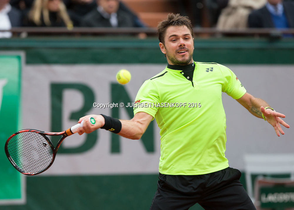 Stan Wawrinka (SUI)<br /> <br /> Tennis - French Open 2016 - Grand Slam ITF / ATP / WTA -  Roland Garros - Paris -  - France  - 3 June 2016.