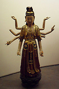 Bodhisattva Avalokitesvara with eight arms (the lord who looks down). A major Bodhisattva in Mahayana Buddhism. 18th century sculpture