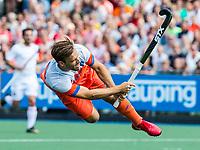 ALKMAAR - Hockey - Jeroen Hertzberger (Ned) tijdens  de wedstrijd   Nederland-Spanje (2-0) heren  . Rabo Super Serie.  COPYRIGHT KOEN SUYK