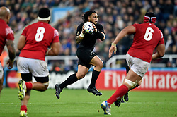 Ma'a Nonu of New Zealand Ma'a Nonu of New Zealand in possession on the occasion of his 100th cap - Mandatory byline: Patrick Khachfe/JMP - 07966 386802 - 09/10/2015 - RUGBY UNION - St James' Park - Newcastle, England - New Zealand v Tonga - Rugby World Cup 2015 Pool C.