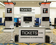 """Tickets.com trade show booth at INTIX 2017 in New Orleans; International Ticketing Association's 38th Annual Conference & Exhibition """"Billets on the Bayou"""""""