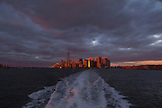 Sunset on the Hudson River, Lower Manhattan, New York City