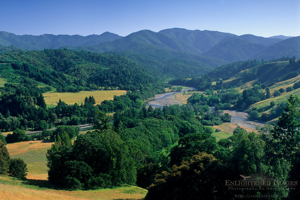 Looking toward the King Range and the Mattole River, near Honeydew, Humboldt County, CALIFORNIA