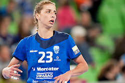 Andrea Penezic #23 of RK Krim Mercator during handball match between RK Krim Mercator (SLO) and ZRK Buducnost (MNE) in 6th Round of Main Round of Women's EHF Champions League 2013/14  on March 15, 2014 in SRC Stozice, Ljubljana, Slovenia. Photo by Urban Urbanc / Sportida.com