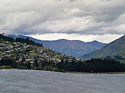 View of Queenstown taken from the north; New Zealand's adventure capitol; Otago Region, New Zealand