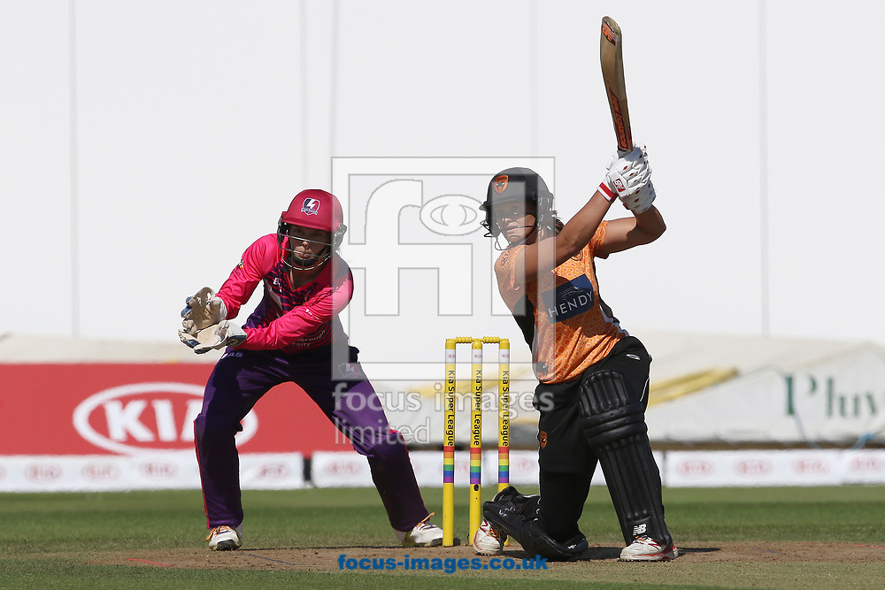 Suzie Bates of Southern Vipers  in batting action during the Kia Super League match at the County Ground, Derby, Derby<br /> Picture by Robert Smith/Focus Images Ltd 07837 882029<br /> 15/08/2017