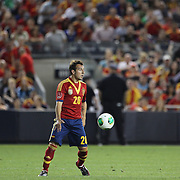 Santi Cazorla, Spain, in action during the Spain V Ireland International Friendly football match at Yankee Stadium, The Bronx, New York. USA. 11th June 2013. Photo Tim Clayton