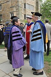 Yale University Commencement 2009 | Congregation and Activities on Cross Campus before the Ceremony. Professor T. P. Ma on the left.