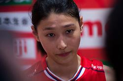 15-05-2016 JAP: OKT Nederland - Zuid Korea, Tokio<br /> Er is nog niets verloren, maar de volleybalsters van Oranje hebben tijdens het OKT een gevoelige 3-0 nederlaag geleden tegen Zuid-Korea / Yeon-Koung KimC #10 of Korea