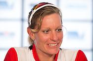 Caroline Steffen (SUI), March 21, 2014 - Ironman Triathlon : Official Press Conference, Café Racer - 15 Marine Parade, St Kilda, Melbourne, Victoria, Australia. Credit: Lucas Wroe