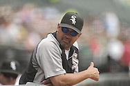 CHICAGO - JULY 27:  Manager Ozzie Guillen #13 of the Chicago White Sox looks on during the game against the Detroit Tigers on July 27, 2011 at U.S. Cellular Field in Chicago, Illinois.  The White Sox defeated the Tigers 2-1.  (Photo by Ron Vesely)  Subject: Ozzie Guillen