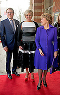 15-3-2016 AMSTERDAM - Princess Margriet, Prince Constantijn and Princess Laurentien of the Netherlands are Tuesday March 15, 2016 at the presentation of the ECF Princess Margriet Award for Culture at the City Theatre in Amsterdam. COPYRIGHT ROBIN UTRECHT<br /> 15-3-2016 AMSTERDAM - Prinses Margriet, Prins Constantijn en Prinses Laurentien der Nederlanden zijn dinsdagmiddag 15 maart 2016 aanwezig bij de uitreiking van de ECF Princess Margriet Award for Culture in de Stadsschouwburg in Amsterdam. COPYRIGHT ROBIN UTRECHT