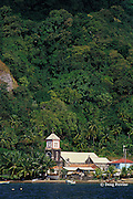 old church at Soufriere, Dominica, West Indies ( Eastern Caribbean )