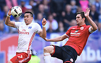 v.l. Bobby Wood (HSV), Stefan Bell<br /> Hamburg, 07.05.2017, Fussball Bundesliga, Hamburger SV - 1. FSV Mainz 05 0:0<br /> Norway only