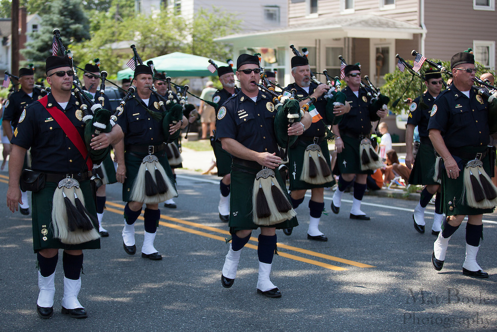Camden County Emerald Society: Pitman 4th of July Parade down Broadway in Pitman NJ on Wednesday July 4, 2012. (photo / Mat Boyle)