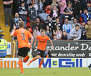 Dundee United's Blair Spittal celebrates after completing the scoring  - Dundee United v Dundee at Tannadice Park in the SPFL Premiership<br /> <br />  - © David Young - www.davidyoungphoto.co.uk - email: davidyoungphoto@gmail.com