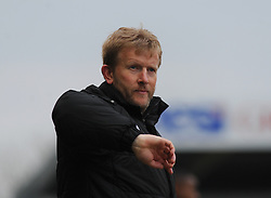 Forest Green Rovers Manager, Adrian Pennock - Photo mandatory by-line: Nizaam Jones - Mobile: 07966 386802 - 14/03/2015 - SPORT - Football - Nailsworth - The New Lawn - Forest Green Rovers v Braintree  - Vanarama Football Conference.
