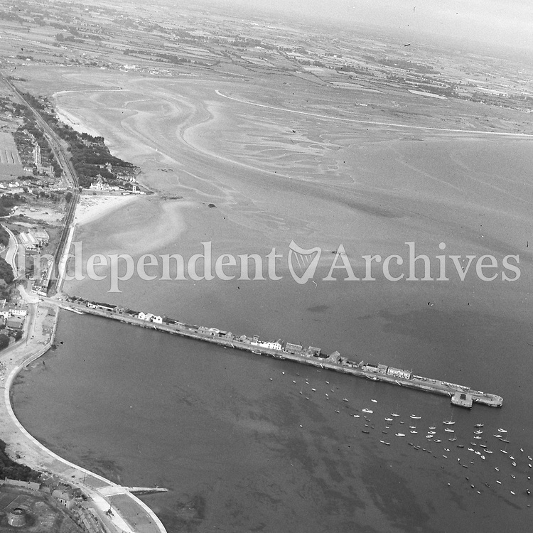 (Part of the Independent Newspapers Ireland/NLI collection.)<br /> Aerial view of Howth Harbour 8/8/1957