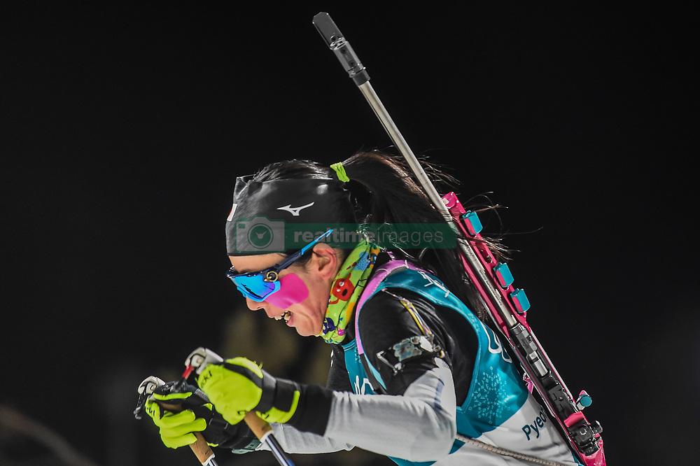 February 12, 2018 - Pyeongchang, Gangwon, South Korea - Fuyuko Tachizaki ofJapan competing at Women's 10km Pursuit, Biathlon, at olympics at Alpensia biathlon stadium, Pyeongchang, South Korea. on February 12, 2018. Ulrik Pedersen/Nurphoto  (Credit Image: © Ulrik Pedersen/NurPhoto via ZUMA Press)