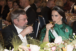 J. Michael Kosterlitz, Prinzessin  Sofia <br /> <br />  <br /> <br />  beim Nobelbankett 2016 im Rathaus in Stockholm / 101216 <br /> <br /> <br /> <br /> ***The Nobel banquet, Stockholm City Hall, December 10th, 2016***