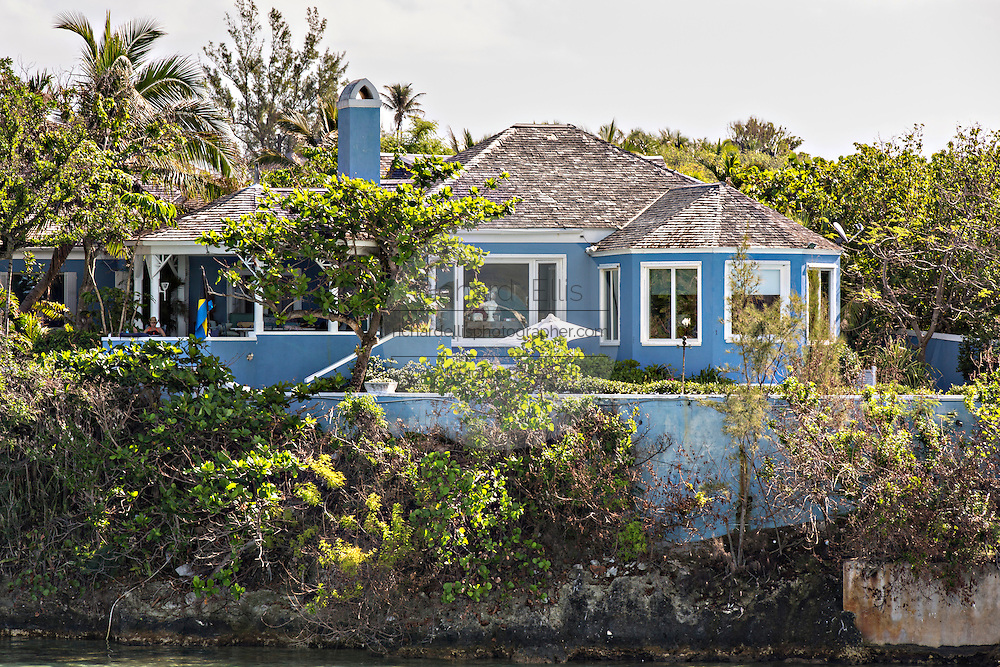 Homes in Dunmore Town, Harbour Island, The Bahamas.