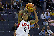 TEAM USA Seimone Augustus takes a shot during the 2012 USA Women's Basketball Team versus Brazil at Verizon Center in Washington, DC.  July 16, 2012  (Photo by Mark W. Sutton)