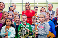 HAARLEM  - Queen maxima school in Haarlem to visit the program Children for music. COPYRIGHT ROBIN UTRECHT
