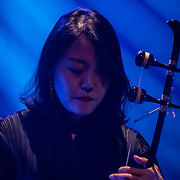 K-Music - Jambinai, performs declaration song of freedom from the oppressor and occupied by the Japanese to express all of their emotion to the K-Music with anger, hate become courageous and the joy of freedom and independence. The Jambinai was formed in Seoul, South Korea, in 2009 by guitarist and piri (oboe) player Ilwoo Lee, haegeum (a fiddle-like instrument) player Bomi Kim, and geomungo (zither) player Eunyong Sim on 3rd October 2019, at Southbank, London, UK.