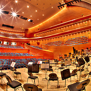 May 2011 in the Kauffman Center for the Performing Arts prior to opening in September 2011. At this stage the Kansas City Symphony had recently begun rehearsing in Helzberg Hall.