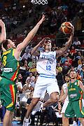 DESCRIZIONE : Madrid Spagna Spain Eurobasket Men 2007 Italia Lituania Itlay Lithuania <br /> GIOCATORE : Massio Bulleri<br /> SQUADRA : Nazionale Italia Uomini <br /> EVENTO : Eurobasket Men 2007 Campionati Europei Uomini 2007 <br /> GARA : Italia Lituania Italy Lithuania <br /> DATA : 08/09/2007 <br /> CATEGORIA : Penetrazione Tiro<br /> SPORT : Pallacanestro <br /> AUTORE : Ciamillo&amp;Castoria/T.Wiedensohler <br /> Galleria : Eurobasket Men 2007 <br /> Fotonotizia : Madrid Spagna Spain Eurobasket Men 2007 Italia Lituania Italy Lithuania <br /> Predefinita :
