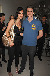 CHARLES BEAMISH and RACHAEL LETHBRIDGE at a party to launch the new upstairs area of Mamilanji, 107 Kings Road, London SW3 on 19th April 2007.<br />