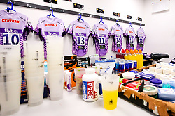 A general view of the Exeter Chiefs changing room at Sale Sharks - Mandatory by-line: Robbie Stephenson/JMP - 08/12/2019 - RUGBY - AJ Bell Stadium - Manchester, England - Sale Sharks v Exeter Chiefs - Heineken Champions Cup