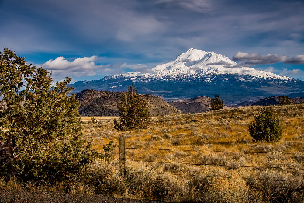 mount shasta, aika, beautiful clouds
