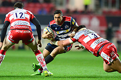 Tusi Pisi of Bristol Rugby is challenged by Josh Hohneck of Gloucester Rugby - Mandatory by-line: Dougie Allward/JMP - 24/03/2017 - RUGBY - Ashton Gate - Bristol, England - Bristol Rugby v Gloucester Rugby - Aviva Premiership