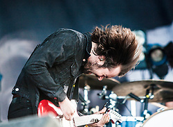 "The Vaccines' Justin Young. Friday at Rockness 2013, the annual music festival which took place in Scotland at Clune Farm, Dores, on the banks of Loch Ness, near Inverness in the Scottish Highlands. The festival is known as ""the most beautiful festival in the world"" ."