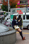 People in central Tokyo, Japan