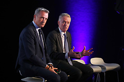 ATP Executive Chairman & President, Chris Kermode (left) Tennis Australia CEO, Craig Tiley speaks during the ATP Team Competition Announcement during day five of the Nitto ATP Finals at The O2 Arena, London.