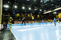 during handball match between RK Gorenje Velenje and RK Celje Pivovarna Lasko in SEHA league, Round 1, on 30th of August , 2017 in Rdeca Dvorana, Velenje, Slovenia. Photo by Grega Valancic/ Sportida