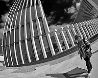 Street Photography in Lisbon. Image taken with a Nikon D850 camera and 8-15 mm fisheye lens.