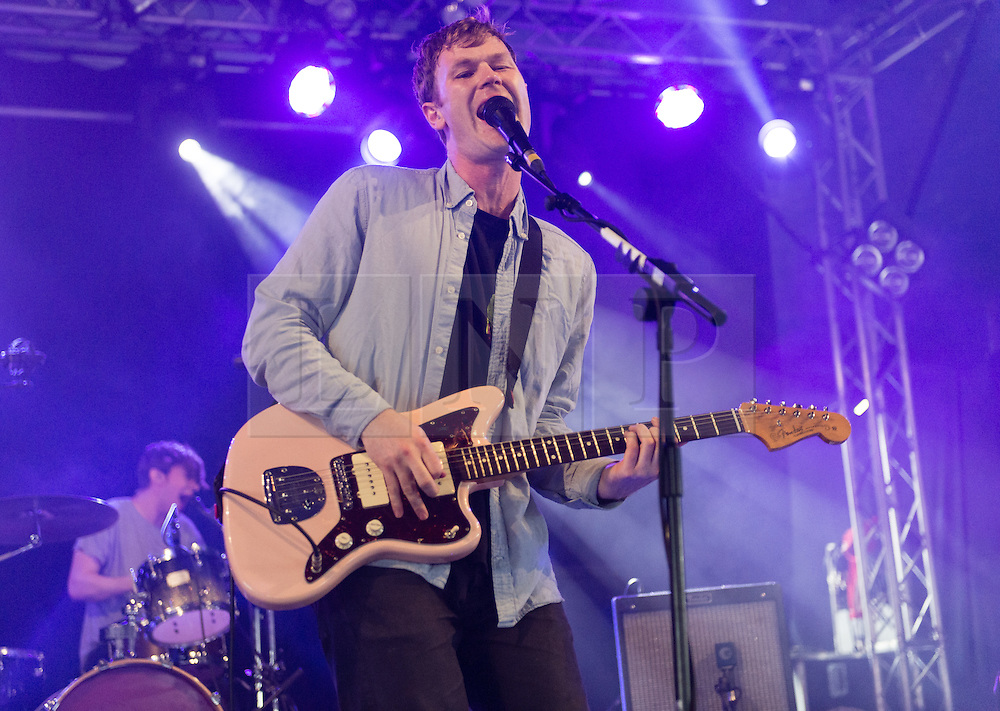 © Licensed to London News Pictures. 30/08/2015. Reading, UK. Gengahr performing at Reading Festival 2015, Day 3 Sunday.  In this picture - Felix Bushe.  Photo credit: Richard Isaac/LNP