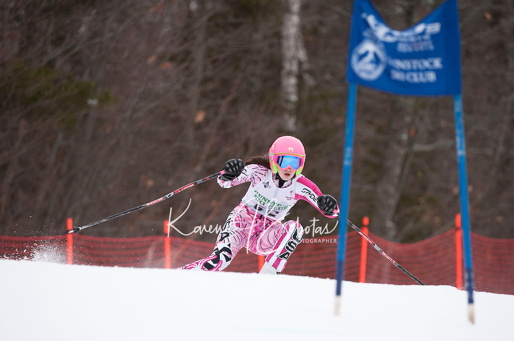 Gunstock Ski Club's Gus Pitou alpine ski race for j6, j5, j4, j3.  Gunstock Mountain Resort January 8, 2012.