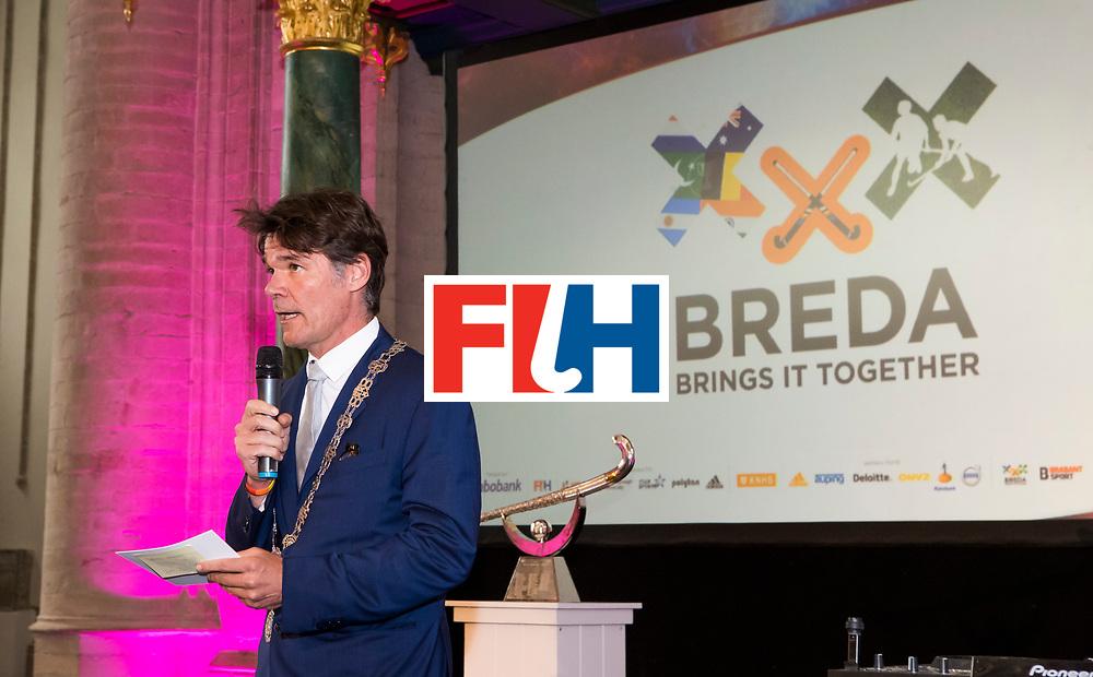 BREDA -  officiele opening van de Rabobank Champions Trophy Hockey , in de Nieuwe Kerk van Breda.   Paul depla, burgermeester Breda. COPYRIGHT  KOEN SUYK