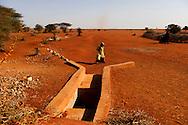 Tørke i Kenya, Afrikas horn. I det Nordøstlige område har det ikke i 4 år og alt er knas tørt, vandhullerne er tørret ud og folk må bruge alt deres energi på at skaffe vand. Nomadefolket der lever i det nordøstlige Kenya har mistet næsten alle deres geder, kvæg og kameler, som er døde som følge af tørken. Der er ingen græs eller anden mad til dyrene tilbage og vandressourserne sparsomme. Det er dyr som er livsvigtige for nomader, da det er alt hvad de ejer og har og uden dyr bliver livet svært og de kan ikke længere skaffe mad selv.  En sluse til at waterharvest som ender i en stor tank, men lige nu er der ingen regn og ingen vand.