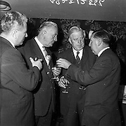 05/09/1961<br /> 09/05/1961<br /> 05 September 1961<br />  Minister for Posts and Telegraphs Michael Hilliard launches Telefis Eireann. Some of the dignitaries at the Lunch held in the Shelbourne Hotel, Dublin.