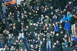 South stand after Bob McHugh scored their fourth goal. <br /> Falkirk 5 v 0 Alloa Athletic, Scottish Championship game played at The Falkirk Stadium. &copy; Ross Schofield