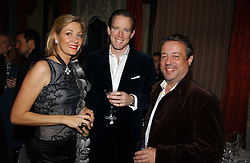 Left to right, NADJA SWAROVSKI, her husband RUPERT ADAMS and HAMISH MCALPINE at jeweller Stephen Webster's Christmas party held at Home House, 20 Portman Square, London W1 on 11th December 2006.<br />